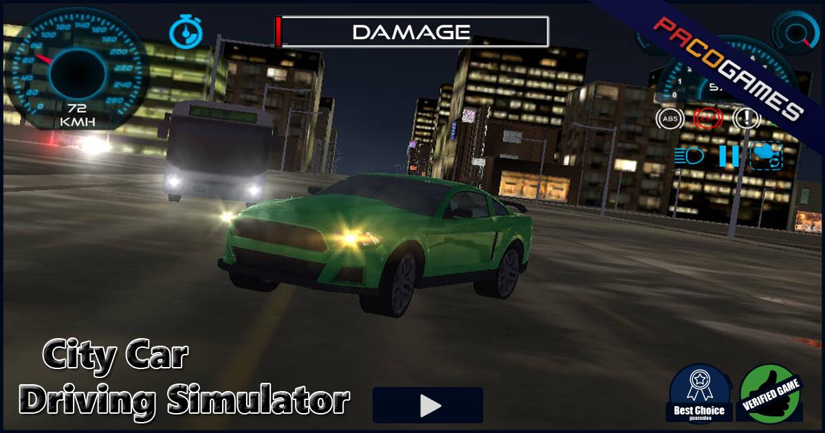 Car Driving Games >> City Car Driving Simulator Ucretsiz Oyna Pacogames Com Da