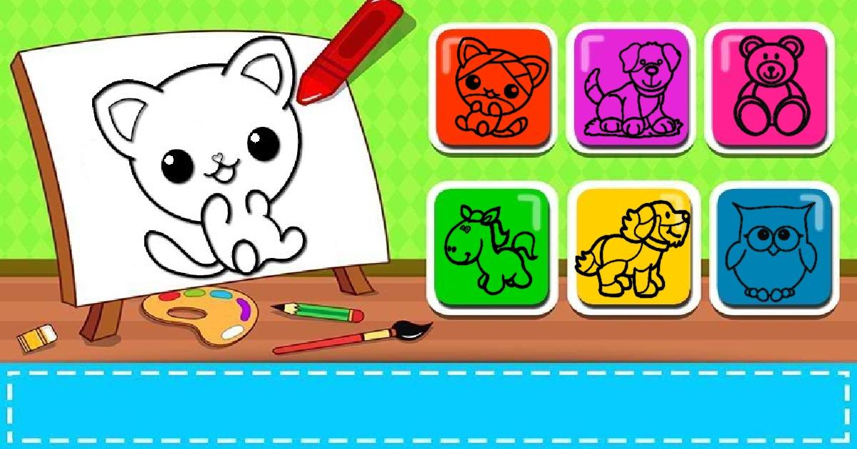 Easy Kids Coloring Game | Play for Free on PacoGames