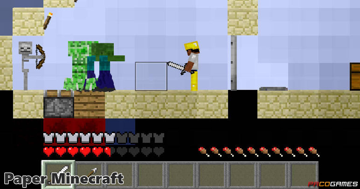 Paper Minecraft Basically 2d Minecraft Play If For Free